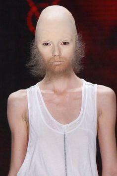 weird fashion show makeup