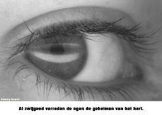 Al zwijgend verraden de ogen de geheimen van het hart.