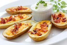 Hot Artichoke Spinach Dip and Potato Skins... recipes made HEALTHY!!!