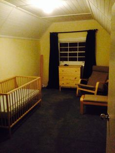 The before pic! Nursery Ideas, Cribs, Bed, Furniture, Home Decor, Cots, Bassinet, Crib Bedding, Home Furnishings
