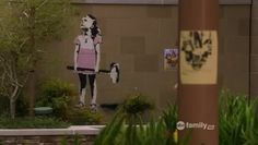 "This is the ""axe girl"" graffiti that appeared in ""Switched At Birth"". It is through this piece of artwork that I fell in love with Street Art!"