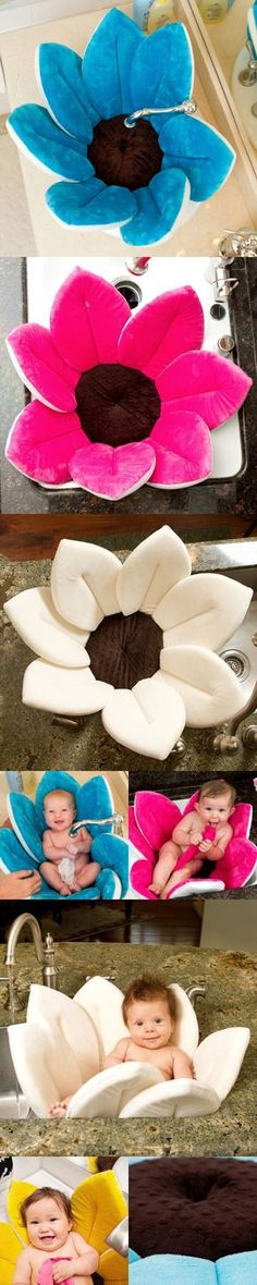 Blooming Bath.... Will be using one of these some day, it is cute and better then the baby bath tubs.