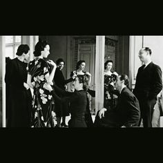 Christian Dior during a fitting with Robert Piguet at Champs Elysees. Where Dior started his fashion carrier as a designer after selling his sketches to various newspapers of Paris