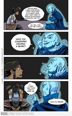 Korra and Aang