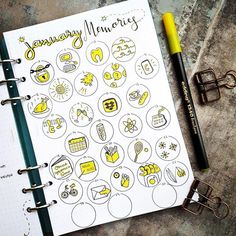 """2,993 Me gusta, 22 comentarios - IG account for Zen of Planning (@showmeyourplanner) en Instagram: """"Love this doodle challenge posted by @seras.bullet.journal. Fun monochrome take on doodles. If…"""""""