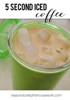 Whip up .... 5 Second Iced Coffee http://www.reasonstoskipthehousework.com/5-second-iced-coffee/
