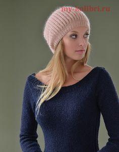 Вязание простой шапки спицами от дизайнера Kim Hargreaves: схема и описание на…