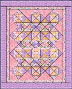 In the Pinks Baby Quilt Pattern    http://quilting.about.com/od/babyquiltpatterns/ss/in_the_pinks.htm