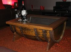 Hey, I found this really awesome Etsy listing at https://www.etsy.com/uk/listing/269574377/whisky-barrel-coffee-table-with-oak-and