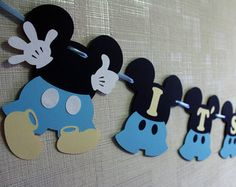 Mickey Mouse Baby Mickey Baby Shower Decorations Banner