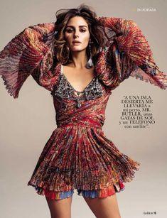Olivia Palermo wears Etro red printed minidress