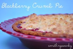 Blackberry Crumb Pie - Just did this with #glutenfree crust and crumble, and a bit of ground-up cranberries for a holiday flair. AWESOME!!