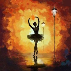 Ballet Dancer Painting by Corporate Art Task Force Ballet Art, Ballet Dancers, Ballerina Kunst, Ballerina Painting, Dance Paintings, Oil Paintings, Silhouette Painting, Acrylic Art, Texture Painting