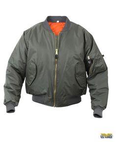 Kid's MA1 size L  Olive Green Flight Jacket Military