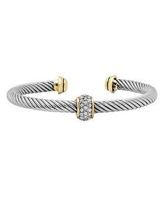 Look what I found on #zulily! Cubic Zirconia & Two-Tone Cuff #zulilyfinds