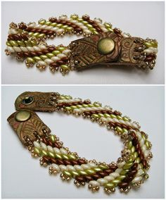Lindy's Designs: Needle, Thread and Beads recycle old belts/handbags for leather snap clasps?