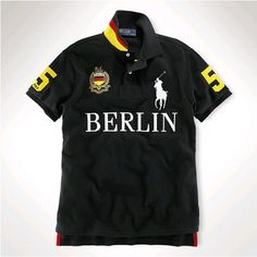 Ralph Lauren Men BERLIN Black White Big Pony Polo  http://www.ralph-laurenoutlet.com/