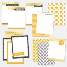 13 Card Project Life Freebie Set | [ One Velvet Morning ]