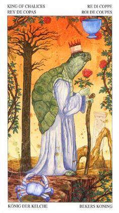 King of Cups - Tarot of the Animal Lords King Of Cups, Knight Sword, Oracle Tarot, Hero's Journey, Pretty Art, Tarot Decks, Archetypes, Tarot Cards, Creative Inspiration