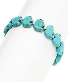 Another great find on #zulily! Turquoise Elephant Stretch Bracelet #zulilyfinds 6