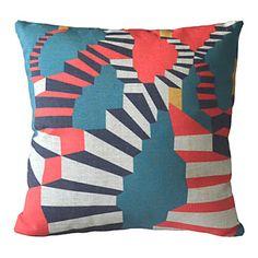 "18"" Square Magic Stairs Cotton/Linen Decorative Pillow Cover – AUD $ 18.05"