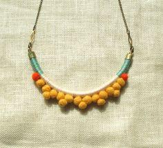 The FRANKIE Necklace Color Study No. von NestoftheBluebird auf Etsy, $48.00