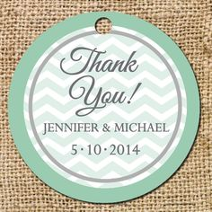 Border Chevron Gift or Favor Tag  Set of by CamilleMonacoDesigns, $2.75