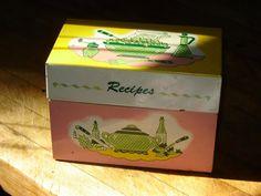 Retro Recipe Box Irene's recipe box