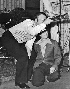 DP Gregg Toland with Director Actor Orson Welles on the set of Citizen Kane, Orson Welles, Greggs, His Hands, The Borrowers, Short Stories, Cinematography, Actors, Best Deals, Movies