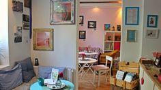 Kakao oder Tee trinken gehen (Jussi - Mein skandinavisches Krimi-Buch-Café) Pizzeria, Kakao, Corner Desk, Gallery Wall, Winter, Furniture, Home Decor, Drinking Tea, Hamburg