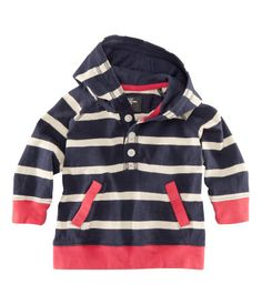 Great idea for baby boy room theme, navy white stripe with red accents: inspirations is sweater from H for baby