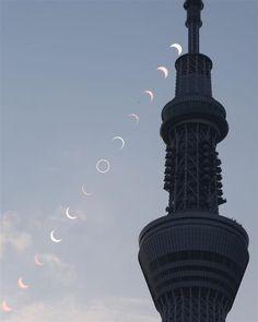 【金環日食2012】東京スカイツリーと金環日食