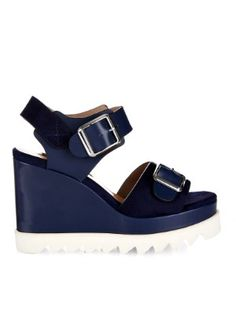 Ida leather and suede wedge sandals | Chrissie Morris | MATCHESFASHION.COM AU