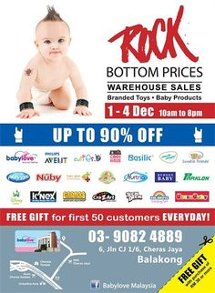 1-4 Dec 2016: Babylove Branded Toys & Baby Products Warehouse