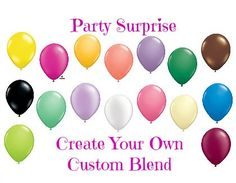 Balloons Custom Color Mix 11 Qualatex latex by PartySurprise