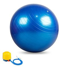 Exercise Ball Premium EXTRA THICK Yoga Ball Includes AIR Pump Anti Burst Slip Resistant 55cm Fitness Ball Blue -- For more information, visit image link.