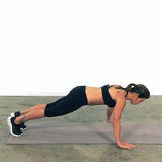 Half-Crow Push-Up - Jillian Michaels.  A whole body workout done via push-up.
