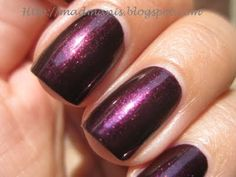 Zoya Jem (Deep Shimmery Aubergine). Have this on today & LOVE it!