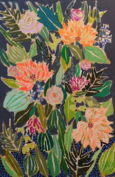Lulie Wallace Image of 24x36 Flowers for Olive