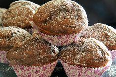 Terapia do Tacho: Queques de alfarroba e courgette (Carob and zucchini muffins)