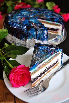 "Lussi`s World of Artcraft: Торта с огледална глазура ""Галактика"" / Mirror glaze galaxy cake"