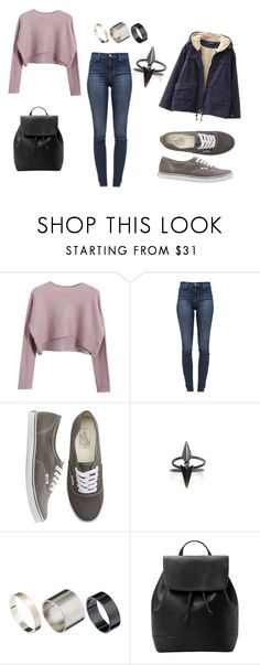 """""""badass"""" by lorab-rg ❤ liked on Polyvore featuring Chicnova Fashion, J Brand, Vans, Maria Black, Just Acces and MANGO"""