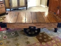 Upcycled Lineberry Factory Cart Coffee Table By DiElizabeth, $499.00