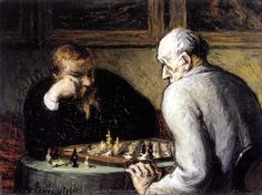 Honoré Daumier, The Chess Players, c. 1863-67