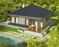 This Three Bedroom Bungalow House Design is 140 square meters in total floor area. Design to be single detached, it can be Bungalow House Plans, New House Plans, Modern House Plans, House Floor Plans, Two Story House Design, Modern Small House Design, Bungalow House Design, Flat Roof House Designs, 100 M2