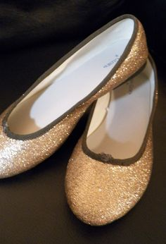 make glitter flats out of ugly clearance shoes
