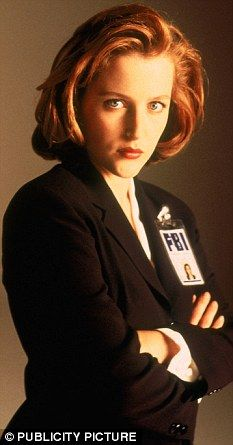 Gillian Anderson as Dana Scully in The X-Files, 1996.
