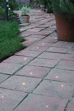 garden lights. Look like fairies have left fairy dust behind ;-)
