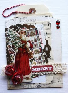 Tagcard for Christmas created by Dt Stine - anma.no