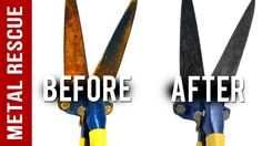 How To Remove Rust From Garden Shears Back Hair Shaver, Rusty Garden, Boat Projects, Metal Working Tools, How To Remove Rust, Pruning Shears, Spring Cleaning, Clean House, Cleaning Hacks